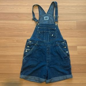 Vintage 90's Jean Overalls Shorts Squeeze Brans